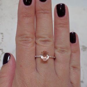 Oval Morganite Engagement Ring